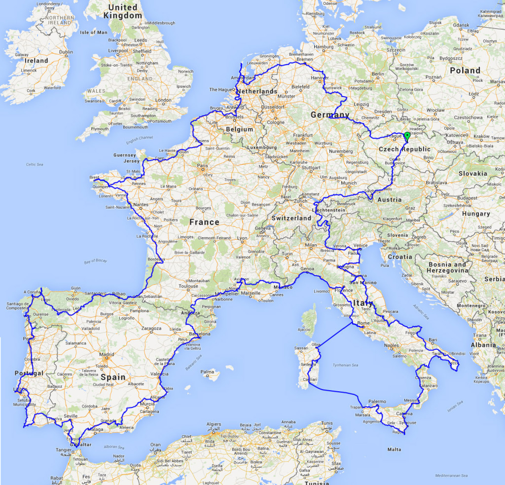 Evropa 2015 mapa